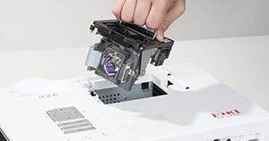 Как заменить лампу в проекторе